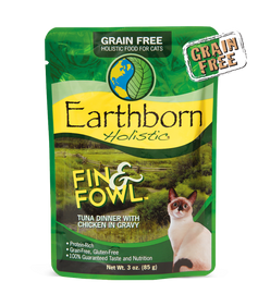 Earthborn Fin & Fowl Tuna Dinner with Chicken in Gravy Cat Food 3 OZ.,  Case of 24