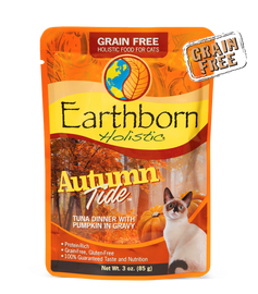 Earthborn Autumn Tide Tuna Dinner with Pumpkin in Gravy Cat Food 3 OZ.,  Case of 24