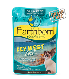 Earthborn Key West Zest Tuna Dinner with Mackerel in Gravy Cat Food 3 OZ.,  Case of 24