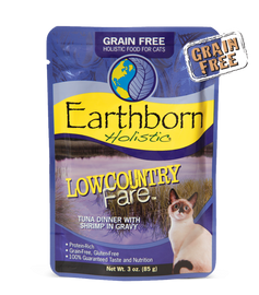 Earthborn Lowcountry Fare Tuna Dinner with Shrimp in Gravy Cat Food 3 OZ.,  Case of 24