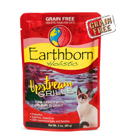 Earthborn Upstream Grille Tuna Dinner with Salmon in Gravy Cat Food 3 OZ.,  Case of 24