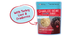 Charlee Bear Original Crunch with Turkey Liver & Cranberries Dog Treat, 16 OZ.