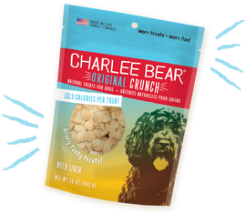 Charlee Bear Original Crunch with Liver Dog Treat, 16 OZ.
