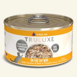 Weruva TruLuxe On the Cat Wok with Chicken & Beef in Pumpkin Soup Cat Food 3 OZ.,  Case of 24