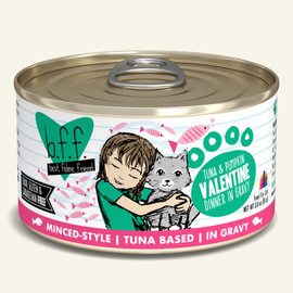 Weruva B.F.F. Tuna & Pumpkin Valentine Tuna & Pumpkin Dinner in Gravy Cat Food 3 OZ.,  Case of 24