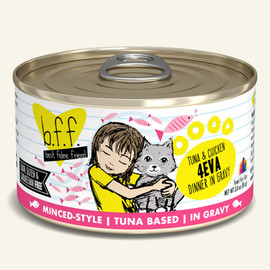 Weruva B.F.F. Tuna & Chicken 4Eva Tuna & Chicken Dinner in Gravy Cat Food 3 OZ.,  Case of 24