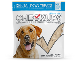 Checkups Dental Dog Treats, 48 OZ., 24 Count