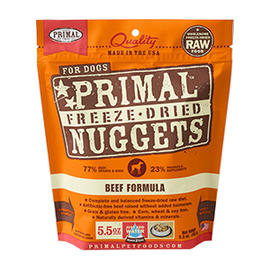 Primal Beef Balanced Base Canine Raw Freeze Dried Nuggets Dog Food