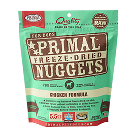 Primal Chicken Balanced Base Canine Raw Freeze Dried Nuggets Dog Food