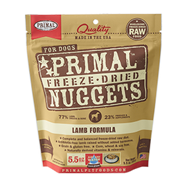 Primal Lamb Balanced Base Canine Raw Freeze Dried Nuggets Dog Food