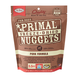 Primal Pork Balanced Base Canine Raw Freeze Dried Nuggets Dog Food