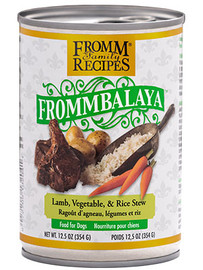 Fromm Frommbalaya Lamb, Rice, & Vegetable Stew Dog Food Dog Food 12.5 OZ.,  case of 12