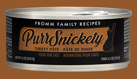 Fromm PurrSnickety Turkey Pate Cat Food 5.5 OZ.,  Case of 12