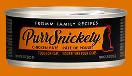 Fromm PurrSnickety Chicken Pate Cat Food 5.5 OZ.,  Case of 12