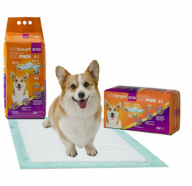 WizSmart Ultra All Day Dry Premium Dog and Puppy Training Pads, 8 Cup, 30 Count
