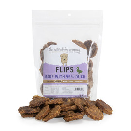 The Natural Dog Company 95% Duck Flips Dog Treats, 6 OZ.