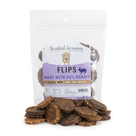 The Natural Dog Company 95% Rabbit Flips Dog Treats, 8.5 OZ.