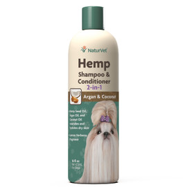 NaturVet Argan & Coconut Hemp Shampoo & Conditioner, 16 OZ.