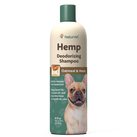 NaturVet Oatmeal & Honey Hemp Shampoo & Conditioner, 16 OZ.