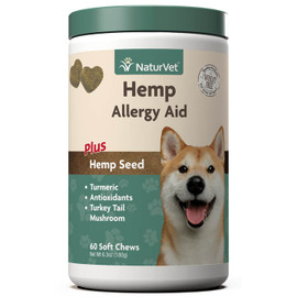 NaturVet Hemp Allergy Aid Dog Supplement, 60 Soft Chews