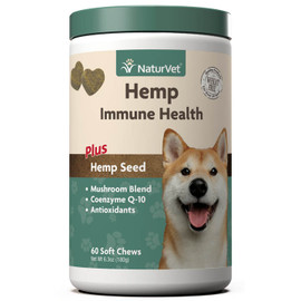 NaturVet Hemp Immune Health Dog Supplement, 60 Soft Chews