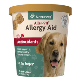 NaturVet Aller-911 Allergy Aid Dog & Cat Supplement, 70 Soft Chews