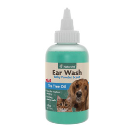 NaturVet Ear Wash Liquid Dog & Cat Supplement, 4 OZ.