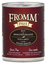 Fromm Beef & Sweet Potato Pate Dog Food 12.2 OZ.,  case of 12