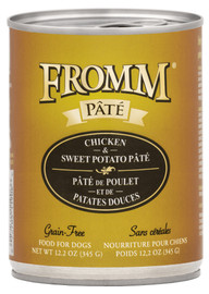Fromm Chicken & Sweet Potato Pate Dog Food 12.2 OZ.,  case of 12