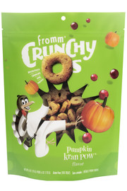 Fromm Crunchy O's Pumpkin Kran Pow Dog Treat 6 OZ.