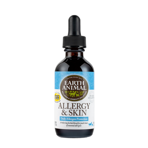 Earth Animal Allergy & Skin Organic Herbal Remedy Dog and Cat Supplement, 2 OZ.