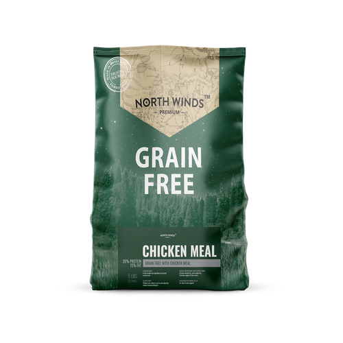 North Winds Premium Grain Free with Chicken Meal Dog Food