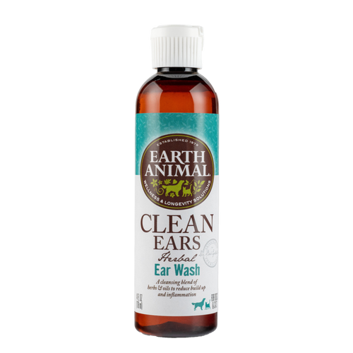 Earth Animal Clean Ears Ear Wash Dog and Cat Supplement, 4 OZ.