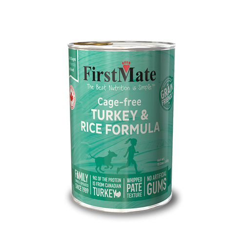 FirstMate Cage Free Turkey & Rice Formula 12.2 OZ., Case of 12