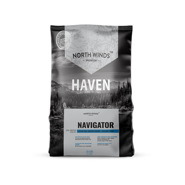 North Winds Premium Haven Navigator with Ocean Fish,  Ancient Grains + Coconut Meal Dog Food