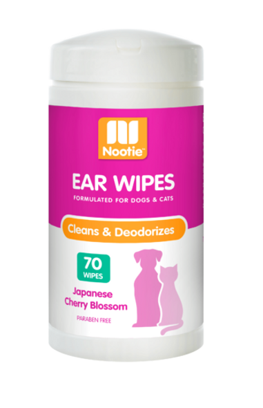 Nootie Japanese Cherry Blossom Ear Wipes, 70 Wipes