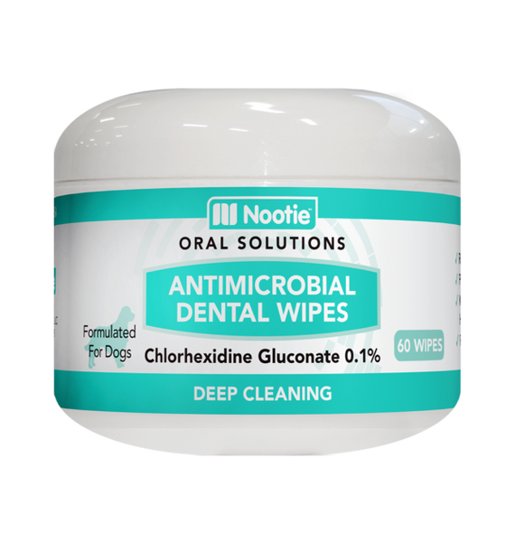 Nootie Antimicrobial Dental Wipes for Dogs, 60 Wipes