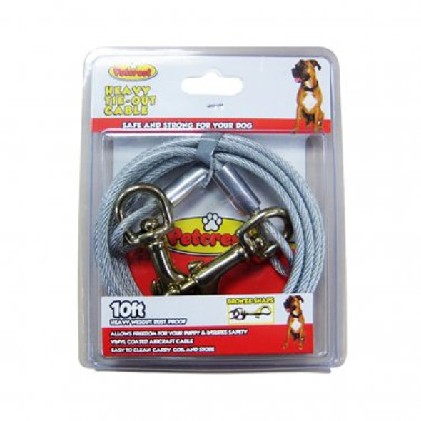 Petcrest Cable Tie Out, Heavy