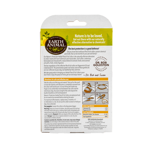 Earth Animal Nature's Protection Flea & Tick Herbal Collar For Dogs