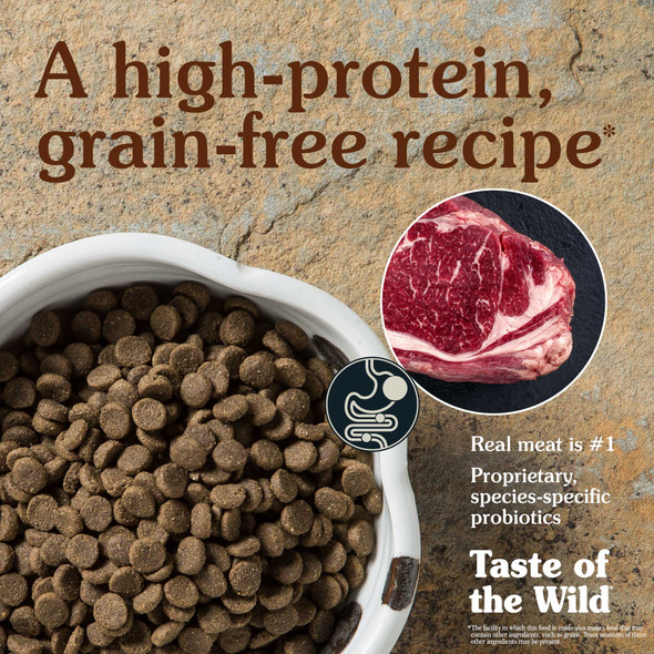 Taste Of The Wild High Prairie Canine Recipe with Roasted Bison & Roasted Venison Dog Food