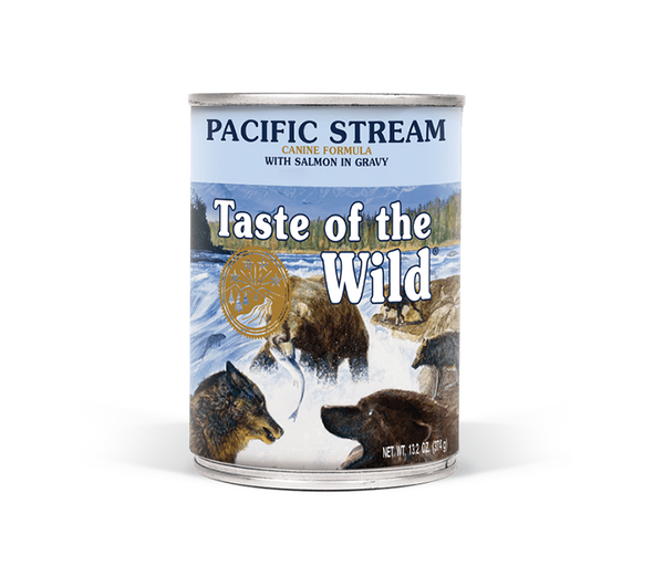 Taste Of The Wild Pacific Stream Canine Formula with Salmon in Gravy Dog Food 13.2 OZ., Case of 12
