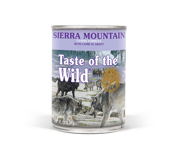 Taste Of The Wild Sierra Mountain Canine Formula with Lamb in Gravy Dog Food 13.2 OZ.,  Case of 12