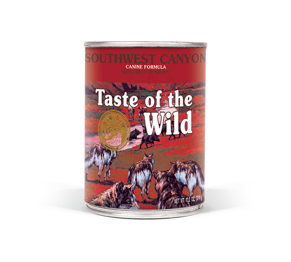 Taste Of The Wild Southwest Canyon Canine Formula with Beef in Gravy Dog Food 13.2 OZ.,  Case of 12