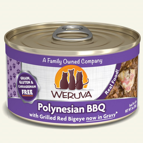 Weruva Classic Polynesian BBQ with Grilled Red Bigeye in Gravy Cat Food 3 OZ.,  Case of 24