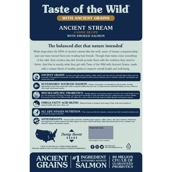 Taste Of The Wild Ancient Stream Canine Recipe with Smoked Salmon Dog Food