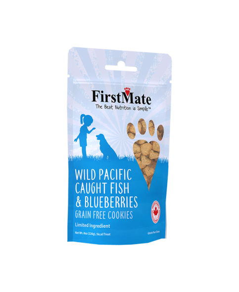 FirstMate Wild Pacific Caught Fish & Blueberries Dog Treats, 8 OZ.