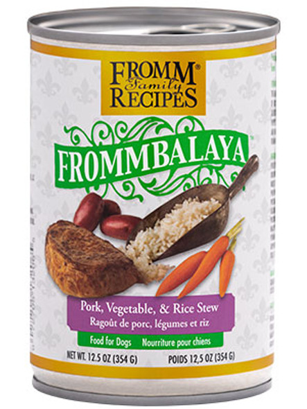 Fromm Frommbalaya Pork, Rice, & Vegetable Stew Dog Food Dog Food 12.5 OZ.,  case of 12