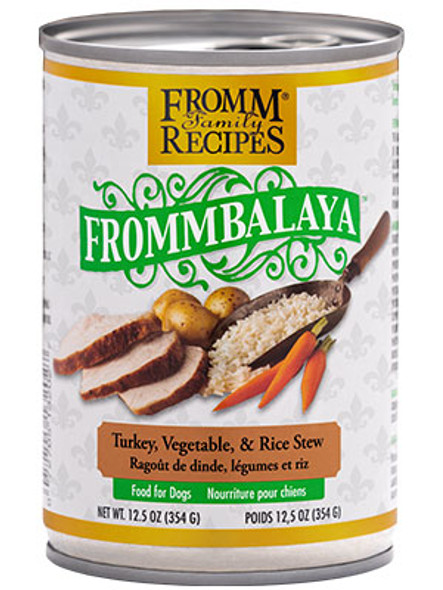 Fromm Frommbalaya Turkey, Rice, & Vegetable Stew Dog Food Dog Food 12.5 OZ.,  case of 12