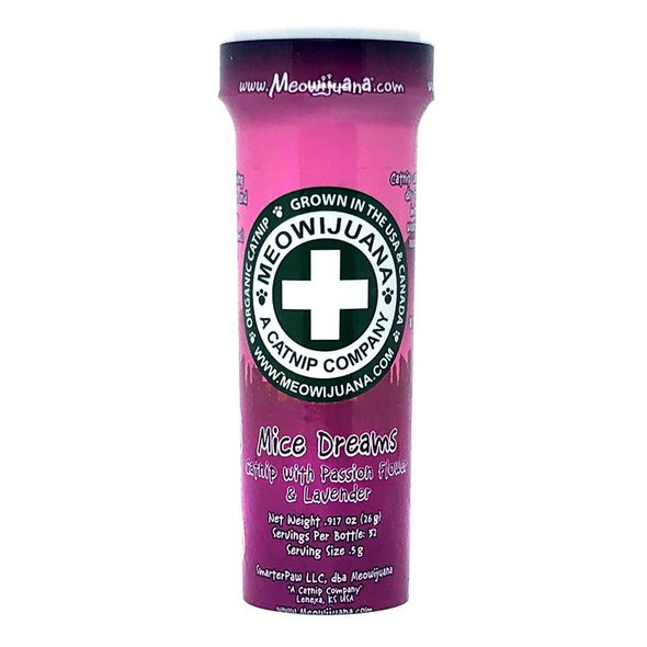 Meowijuana Mice Dreams Passion Flower, Lavender, and Catnip Blend, 26 GM.