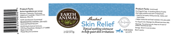 Earth Animal Herbal Skin Relief Balm Dog and Cat Supplement, 2 OZ.